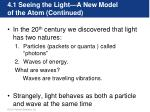 4 1 seeing the light a new model of the atom continued