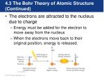 4 3 the bohr theory of atomic structure continued