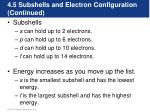 4 5 subshells and electron configuration continued1