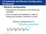 4 5 subshells and electron configuration continued3