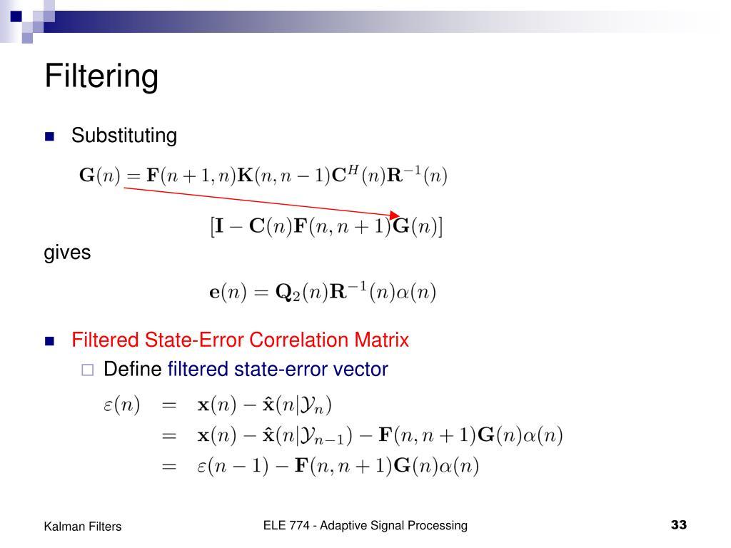 PPT - Kalman Filters PowerPoint Presentation - ID:5643714