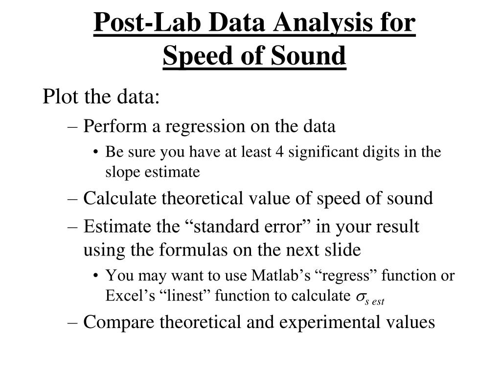 PPT - ACOUSTICS LAB PowerPoint Presentation - ID:5643801