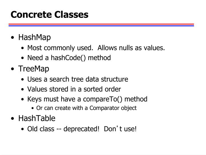 Concrete Classes