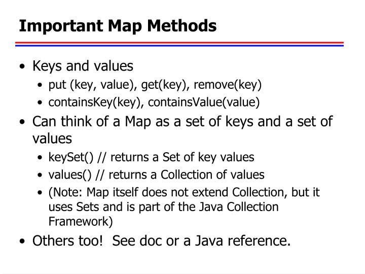 Important Map Methods