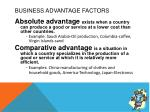 business advantage factors