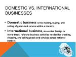 domestic vs international businesses