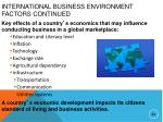 international business environment factors continued3