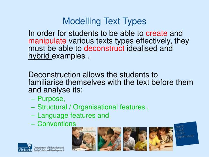 Modelling Text Types