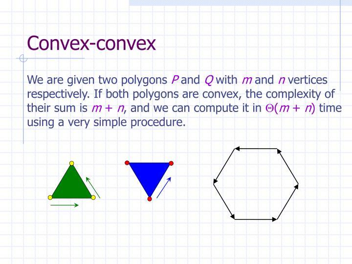 Convex-convex