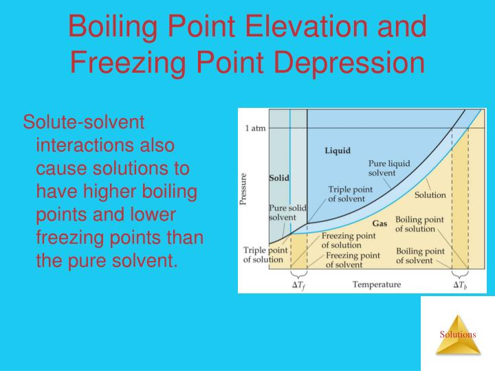 Boiling Point Elevation and Freezing Point Depression