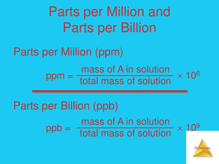 mass of A in solution