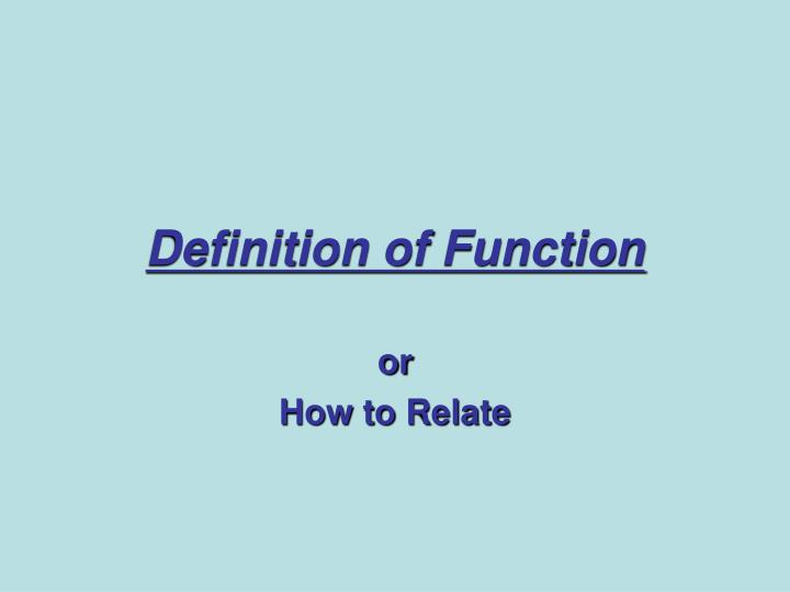 definition of function n.