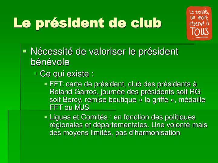 Le pr sident de club1