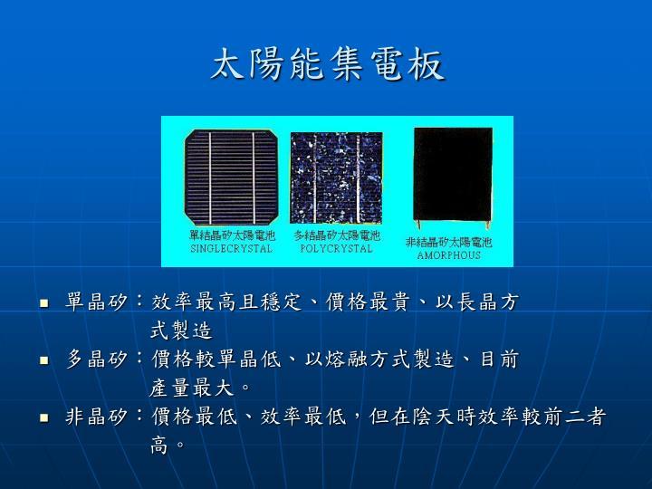 太陽能集電板