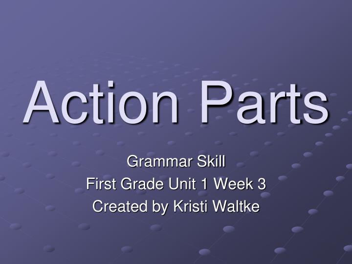 action parts n.