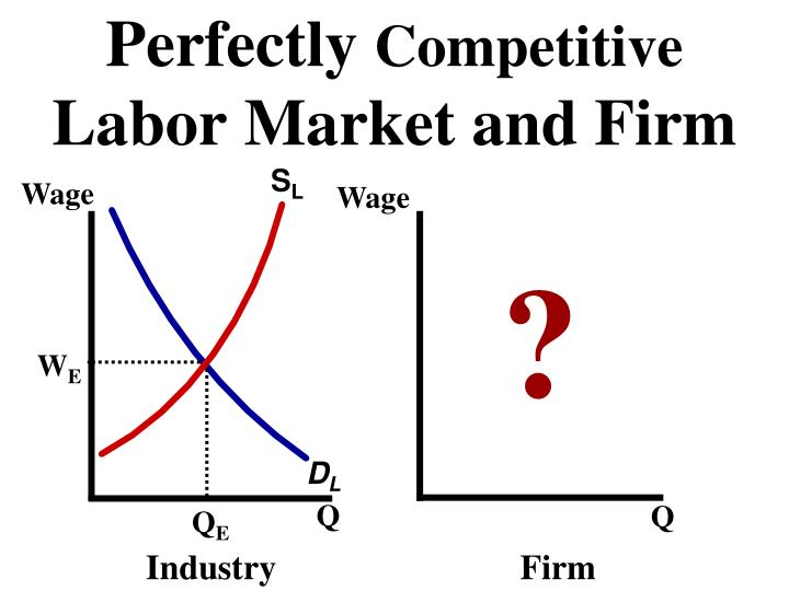 perfect labor markets Still, perfect competition, as a theoretical idea, is worth studying it helps us understand the dynamics of a market, that is not warped by unfair advantage to any single firm there are no examples of such markets, but some sectors may resemble their features this includes the unskilled labor, food grain and high-tech product market.