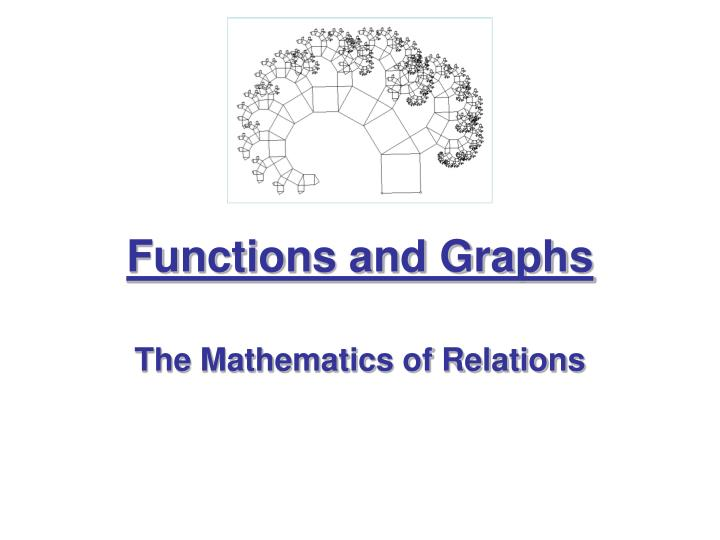 functions and graphs n.