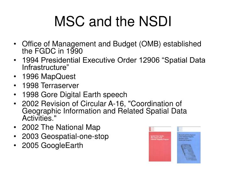 MSC and the NSDI