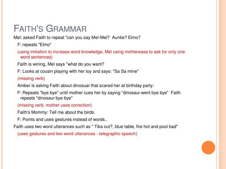 Faith's Grammar