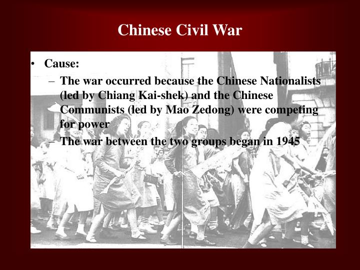 china civil war and communist triumph essay Communism was established as a world force through people such as stalin and the cold war was set in place after the iind world war it was gorbachev's role that altered world equations after the cold war, even as hitler's role defined world balances of power in the years leading up to and immediately after the iind world war.