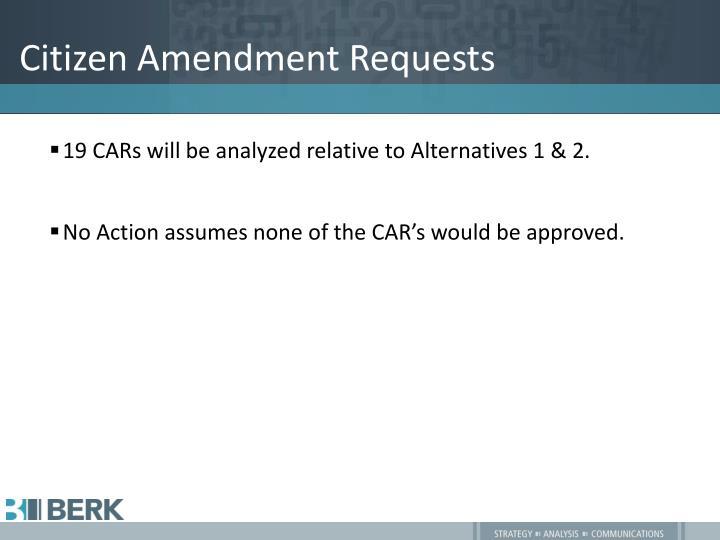 Citizen Amendment Requests