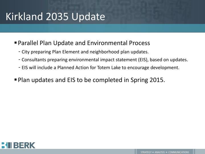 Kirkland 2035 update