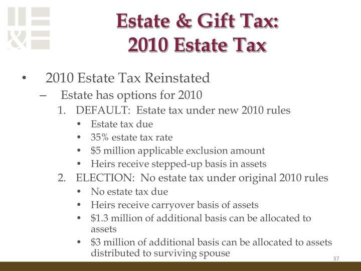 Estate & Gift Tax: