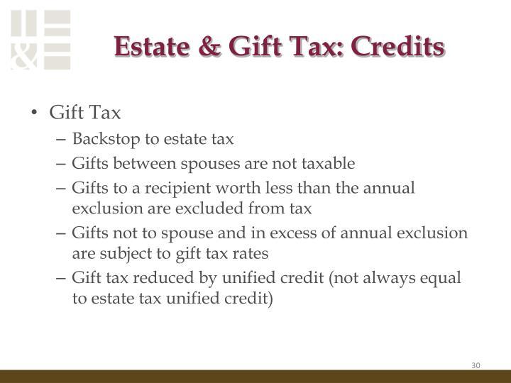 Estate & Gift Tax: Credits