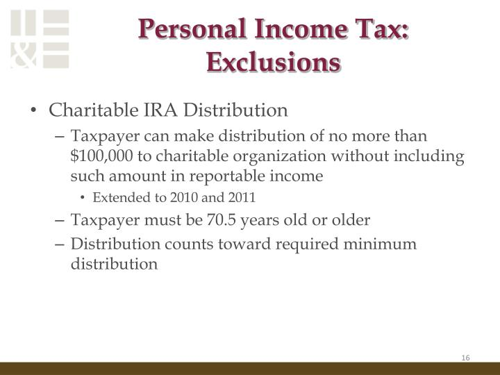 Personal Income Tax: Exclusions