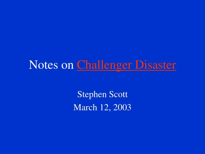 challenger disaster case study ethics