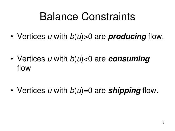 Balance Constraints