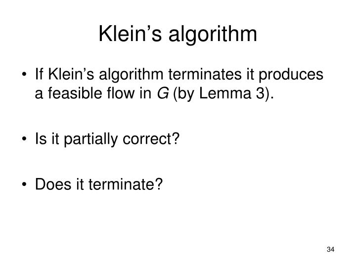 Klein's algorithm