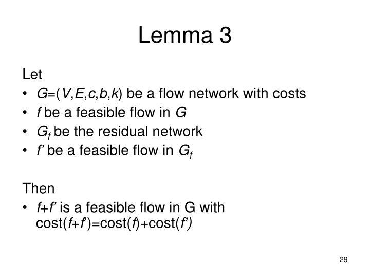 Lemma 3