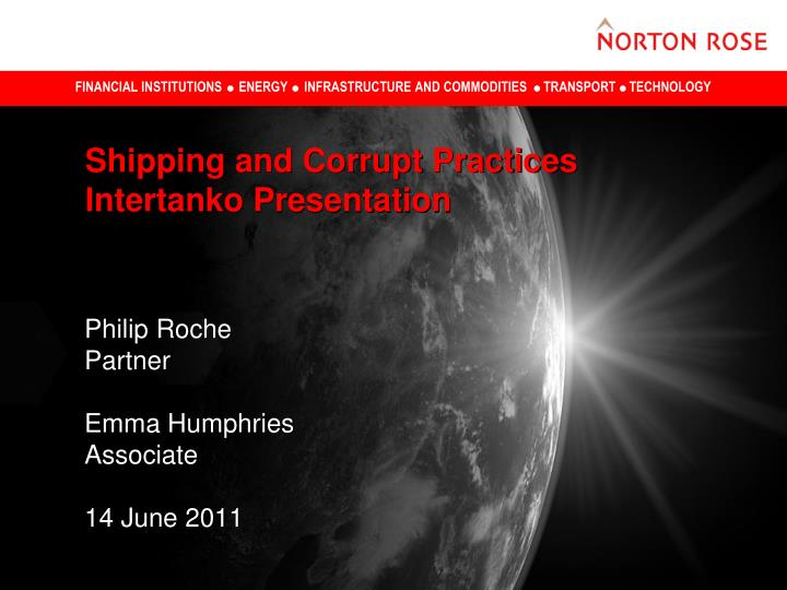 shipping and corrupt practices intertanko presentation n.