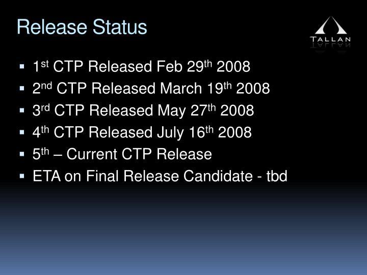 Release Status