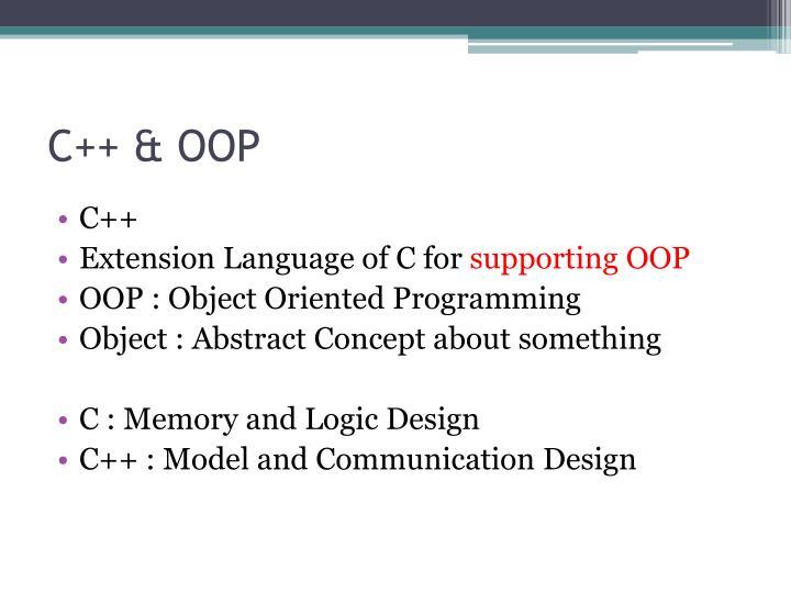 C++ & OOP