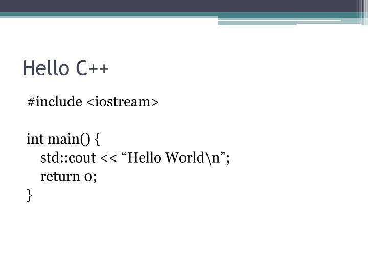 Hello C++