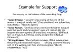 example for support