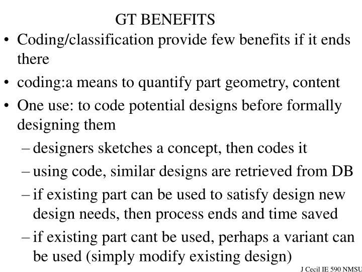 GT BENEFITS