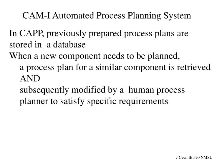 CAM-I Automated Process Planning System