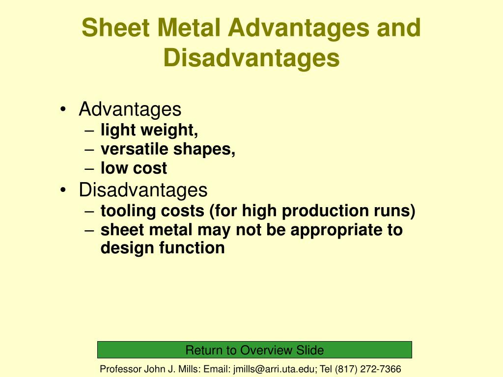 PPT - MAE Course 3344 Lecture 8 Sheet Metal Shaping and