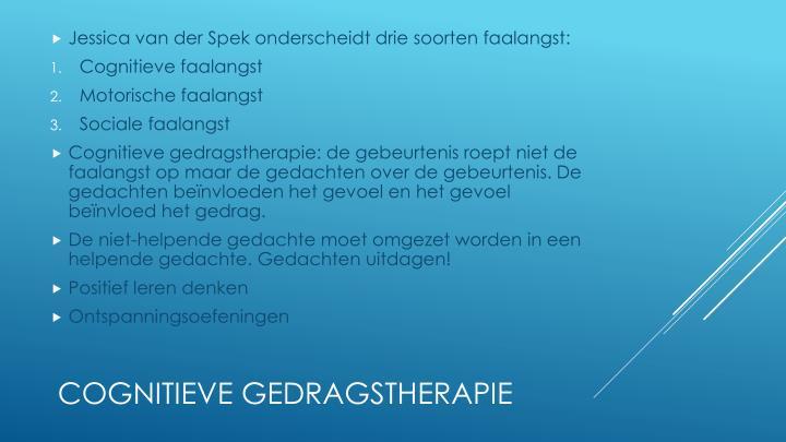 Jessica van der Spek onderscheidt drie soorten faalangst: