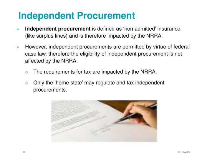 Independent Procurement
