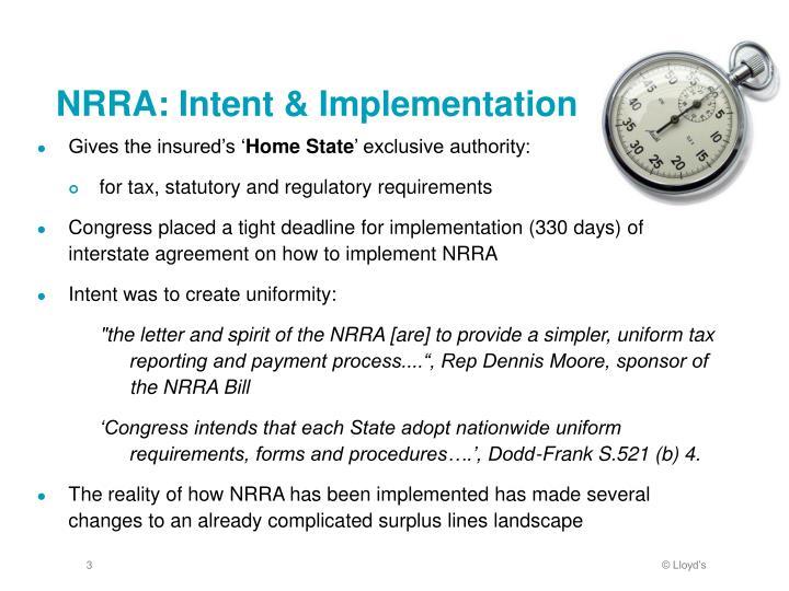 Nrra intent implementation