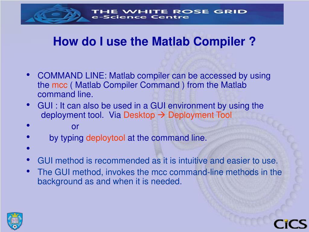 Matlab compiler dll