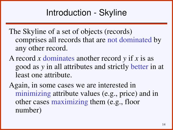 Introduction - Skyline