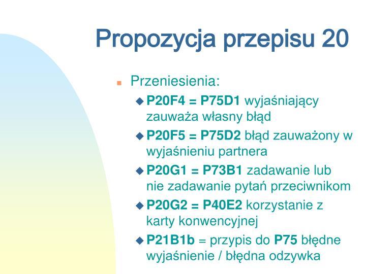 Propozycja przepisu 20