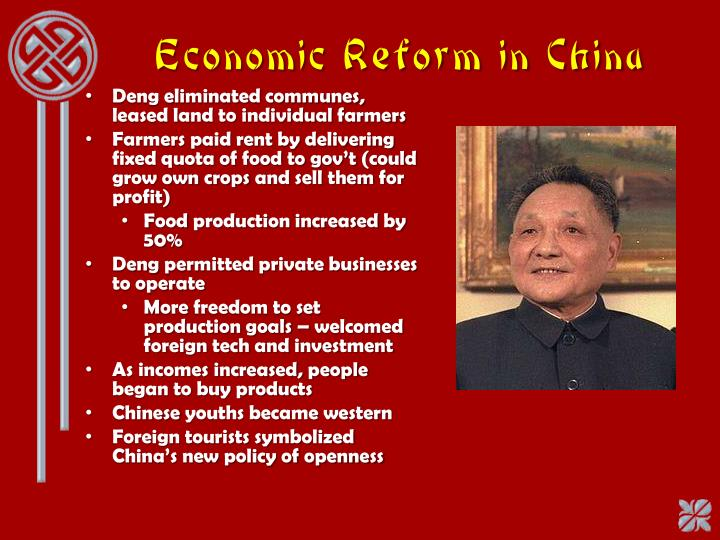 a research on chinese economic reform Then we look back the long history of chinese foreign trade and pay special attention to the regime reform of chinese foreign trade since 1978 and china's response to the latest developments.
