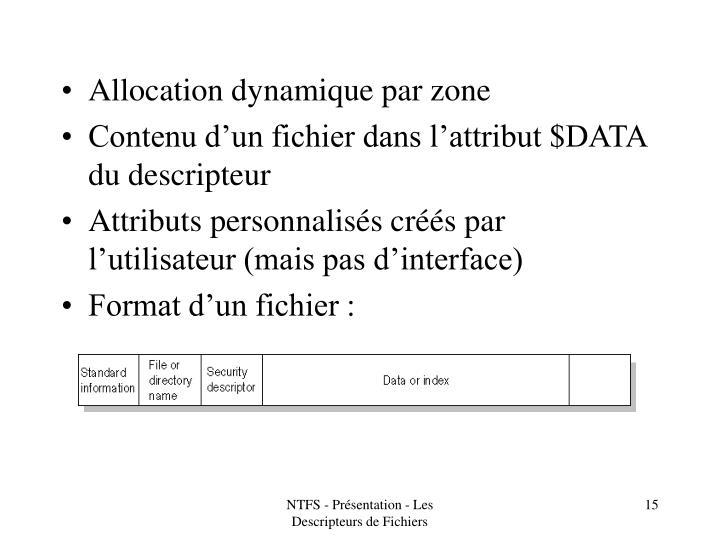 Allocation dynamique par zone