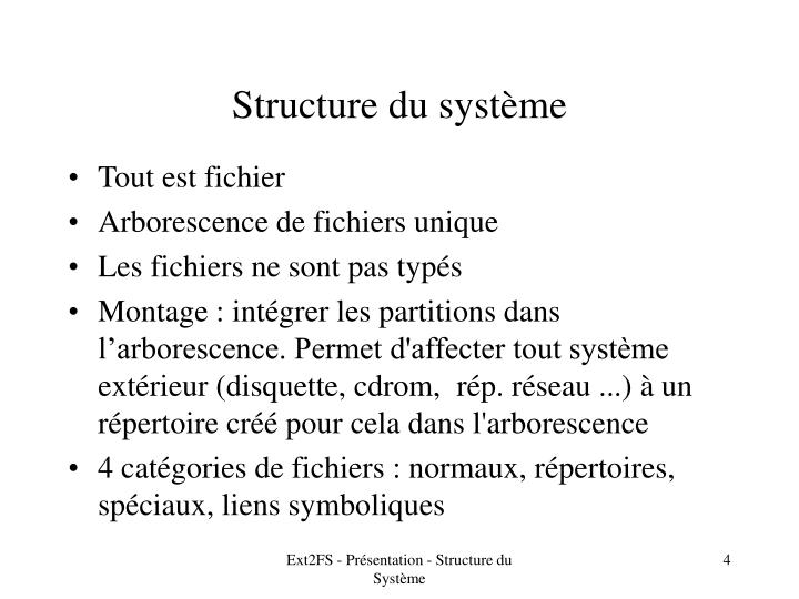 Structure du système